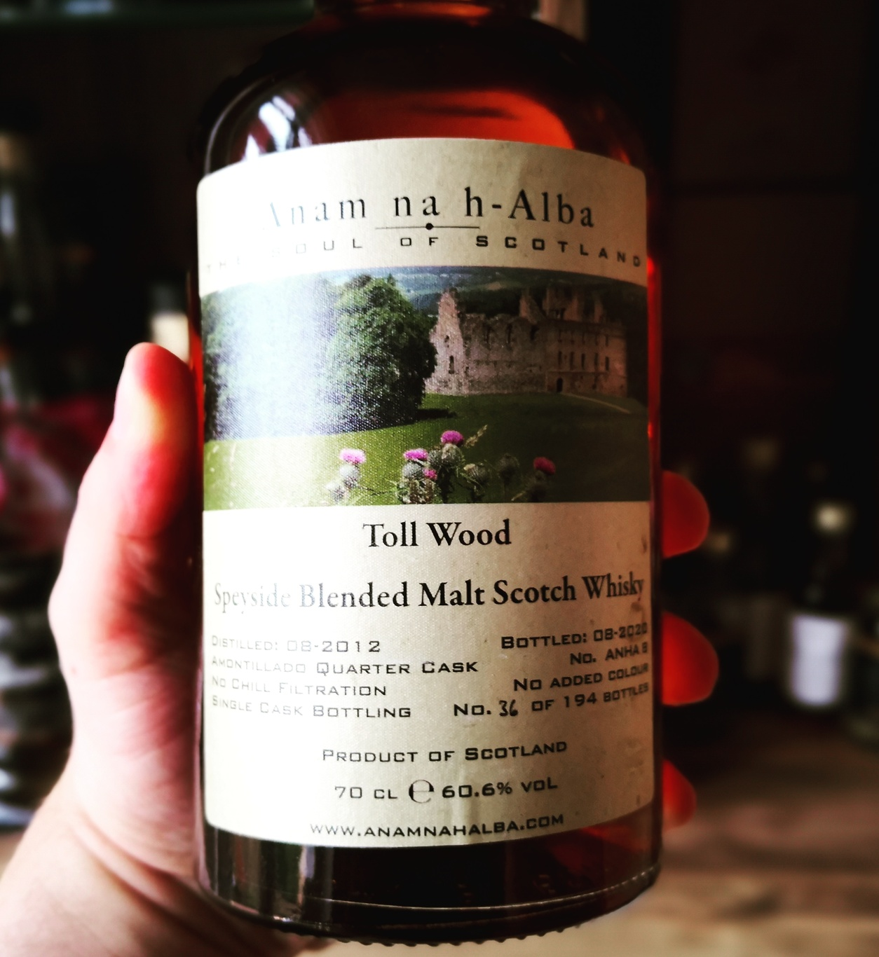 You are currently viewing Toll Wood 2012 [60.6 %, TS Balvenie, Anam na h-Alba,  Amontillado Quarter Cask, 194 Flaschen)