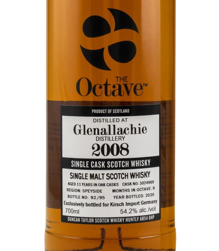 Read more about the article Glenallachie 11Jahre [54.2 %, 2008/2020, Duncan Taylor – The Octave, #3024969, 92 Flaschen]
