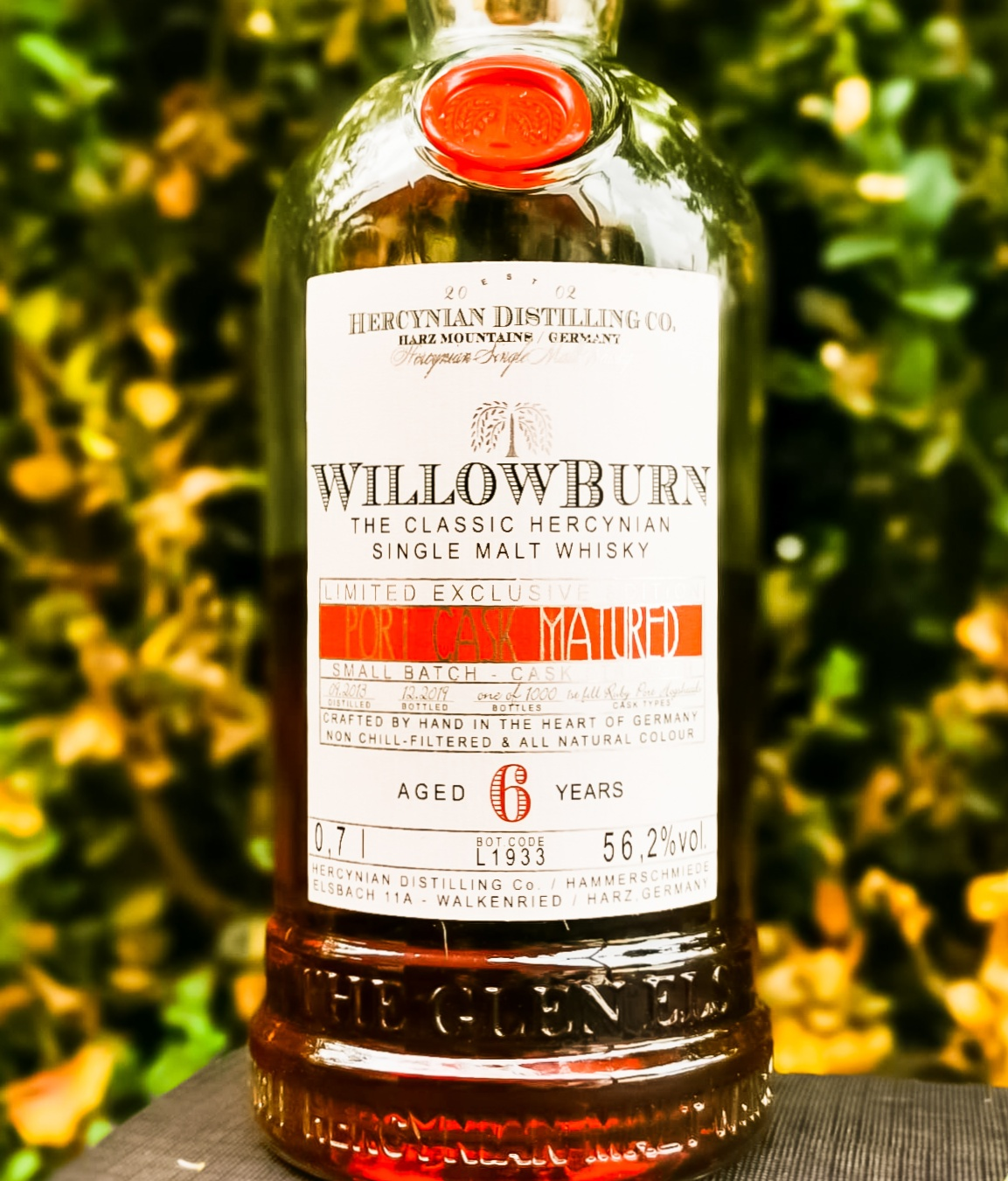 Willowburn 6 Jahre  [56.2%, 1st Fill Ruby Port Hogsheads, Hercynian Destilling Co.]