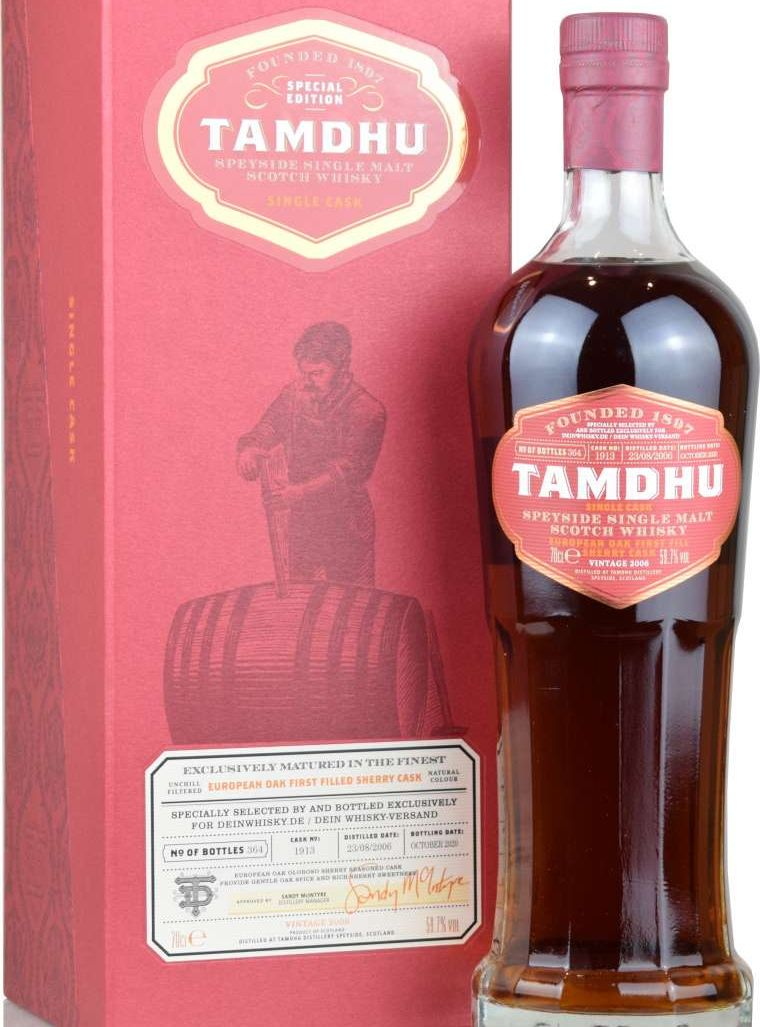Tamdhu 2006/2020 [59.7 %, 14 Jahre, 1st Fill Sherry Single Cask #1913, 364 Flaschen]