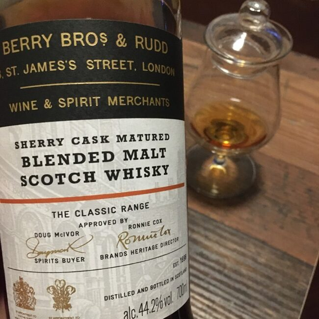 Read more about the article Berry Bros. & Rudd Blended Malt Sherry Cask Matured [44.2 %, NAS, Batch 2]